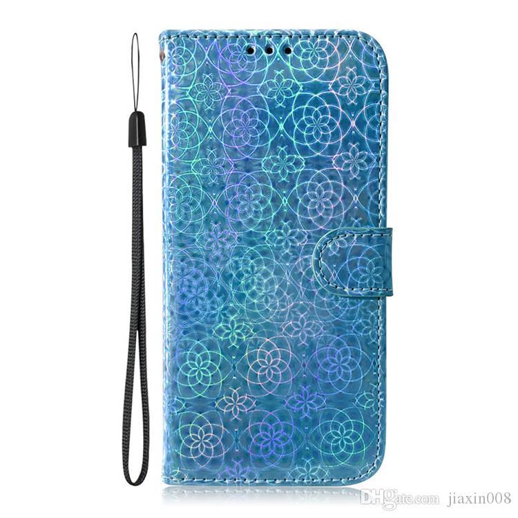 Dazzle Renkli PU Deri Kılıf iphone 6 6 S / 6 Artı 6 S Artı / 7 7 Artı / 8 8 Artı Filp Kapak Standı Cüzdan
