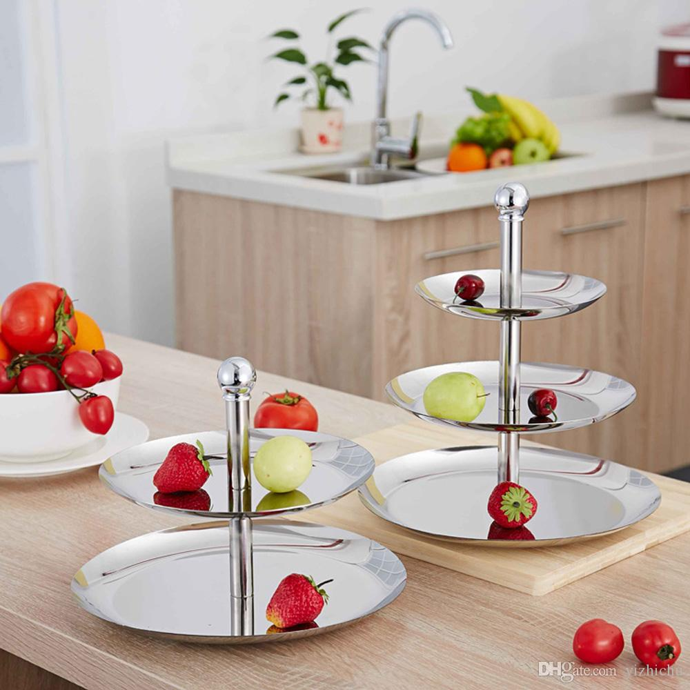 Stainless Steel Serving Tray Dish Plate-Great Use for Cake and Cupcake Stand,Appetizer and Platter Tray,Fruit and Cheese/Meat Tray