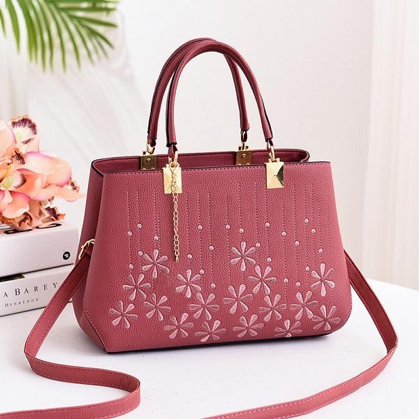 Kadın marka omuz çantası trendi marka tasarım çiçek desen omuz çantası yüksek kaliteli vahşi çanta bayan çantası toptan