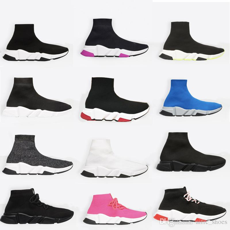 Unisex Sock Sneakers Mens Sneaker Trainer High Quality Sock Race Runners Scarpe nere Uomini e donne Scarpe casual con scatola