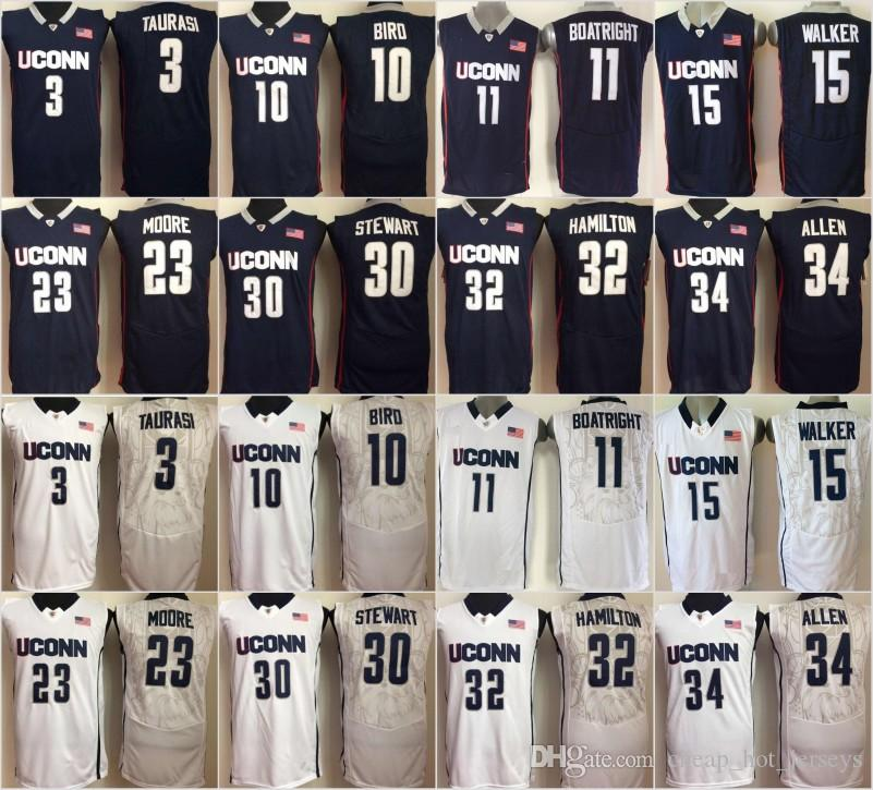 Uconn Huskies Kemba 15 Walker 11 Boatright 32 Hamilton Ray 34 Allen Sue 10 Bird 3 Taurasi 30 Stewart 23 Maya Moore College Basketball Jersey