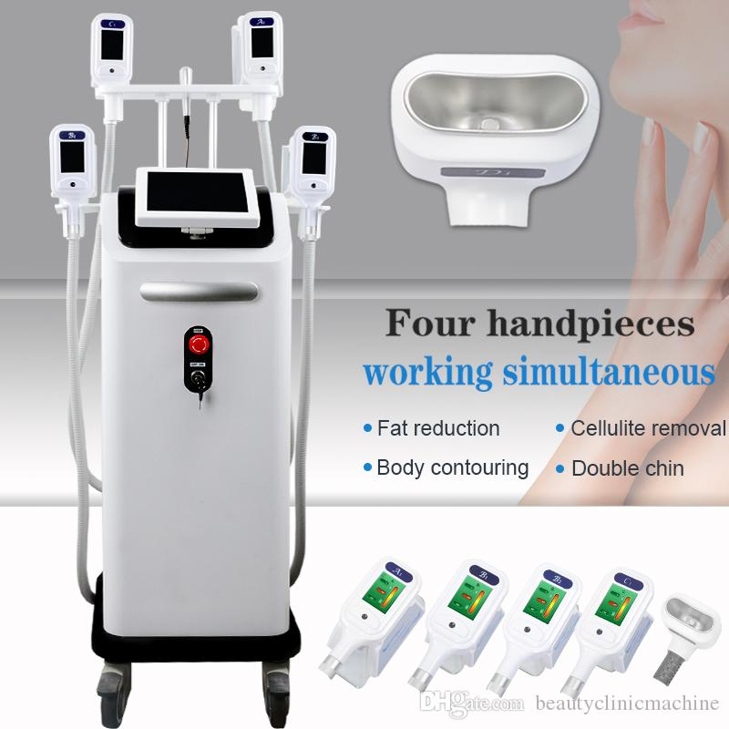 Good Cooling System Fat Freeze Cellulite Reduction Cryolipolysis Machines 4 handles can work together slim vacuum fat freezing