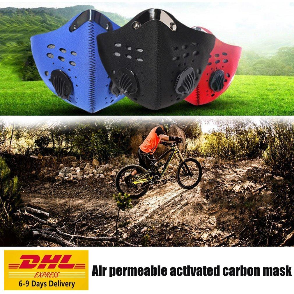US Stock Cycling Protective Face Masks With Filter Black FY9038