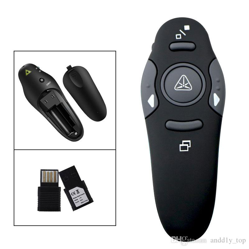 2.4GHZ Wireless Presenter with Red Laser Pointers Pen USB RF Remote Control PPT Powerpoint Presentation Page Up//Down