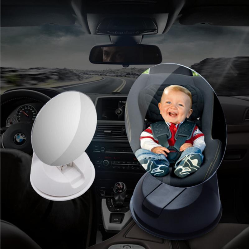 1Pc regolabile auto del bambino del bambino del sedile posteriore di retrovisione di sicurezza Specchio con ventosa nero del sedile posteriore dell'automobile bambino View Mirror il nuovo