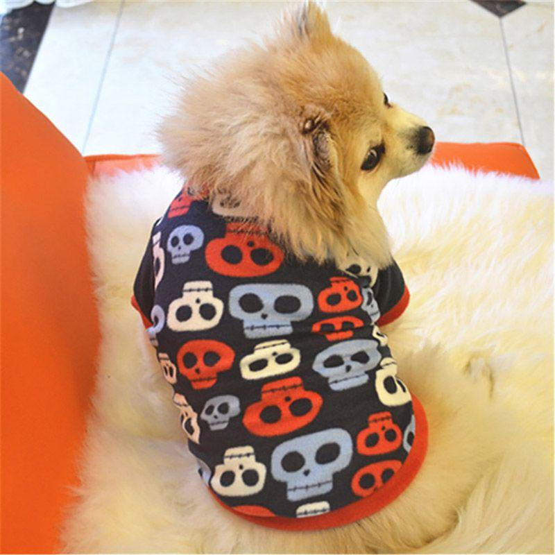 Christmas Cute Pattern Costume Pet Dog Clothes Fleece Coat Pet Puppy Warm Winter Pullover Shirt Dachshund Cat Puppy Clothes