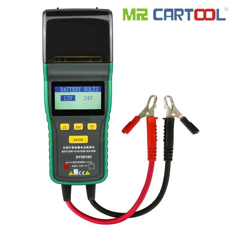Car Battery Tester 12V 24V Lead-acid Analyzer Auto CCA 100-1700 SOH 0-100% Integrated Printer Portable Digital Diagnostic Tool