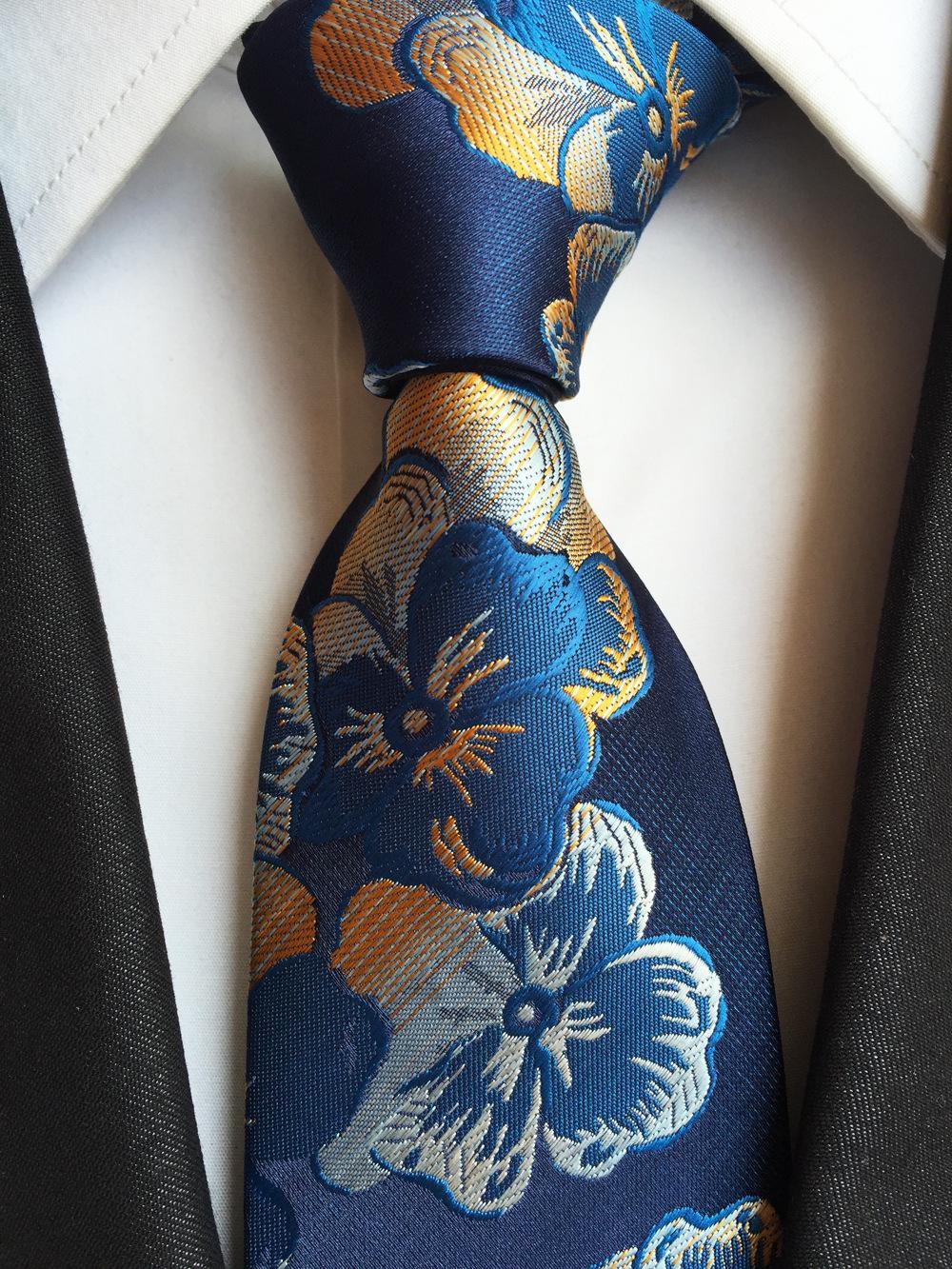 남자 넥타이 고밀도 자카드 직물 넥타이 제조 업체 도매 8cm 12 개