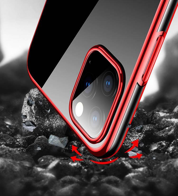 Custodie per telefono di protezione trasparente TPU di alta qualità Soft Shell TPU Cover Smooth Electroplated Protector Case Mobile per iPhone 8plus XR x 11 Pro