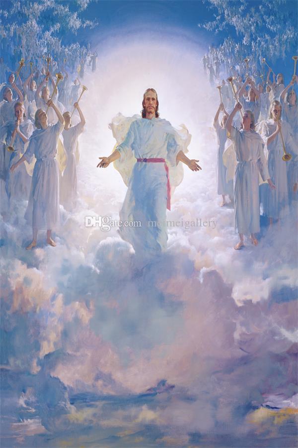 Harry Anderson segunda venida de 2º pinturas de aceite de retorno Imprimir Decoración HD de JESUCRISTO Cristo en Pantalla cuadros de la pared 200109