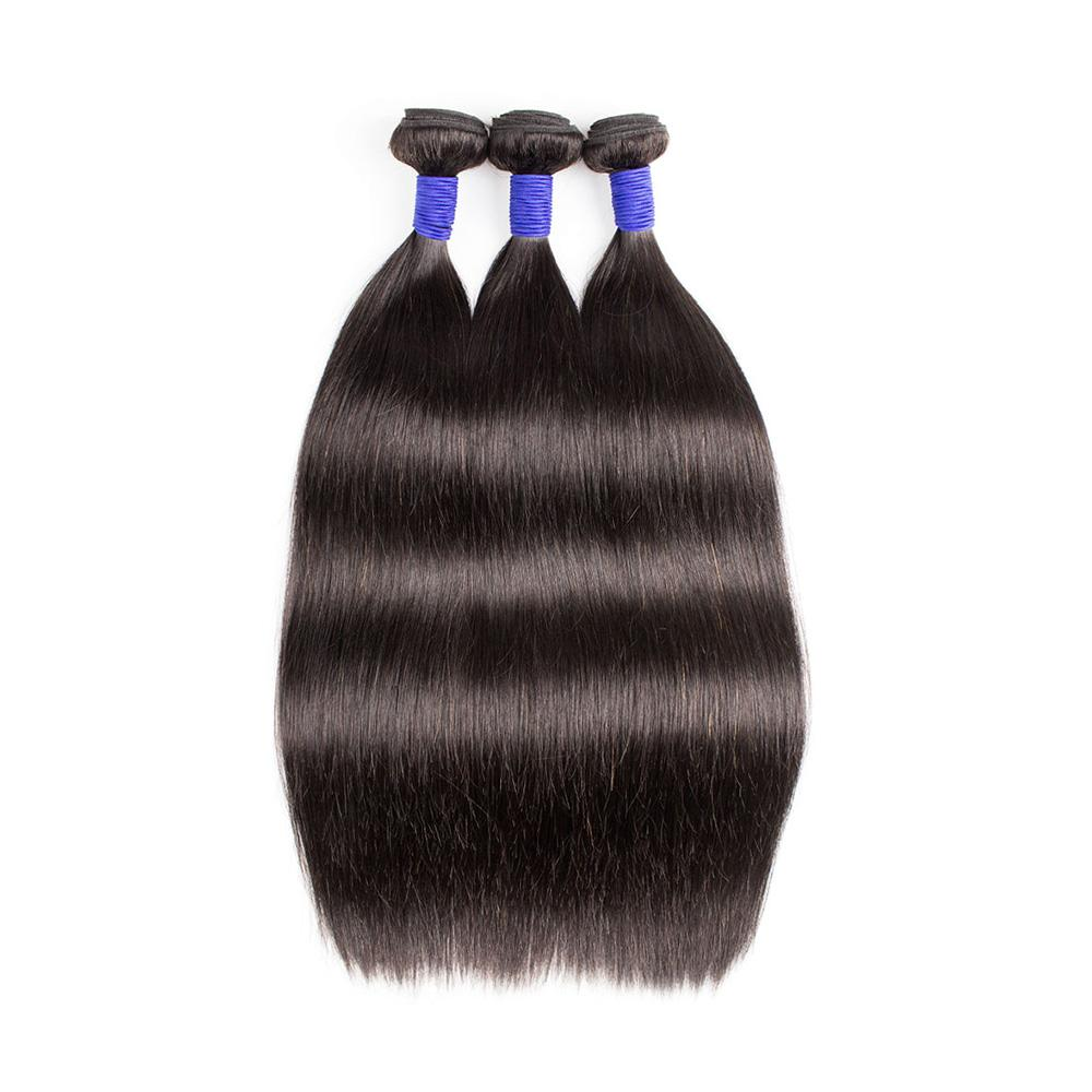 KISSHAIR Thick Straight Hair Bundles Cuticles Aligned Top Quality Unprocessed Virgin Remy Indian Human Hair Extension