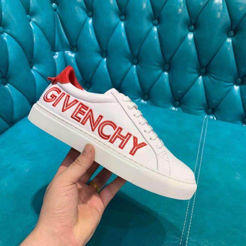 Original Box New Designer Scarpe da uomo con le donne di alta qualità Designer Luxury Sneaker Uomo Casual Ace Shoes Green Red Letter ricamo
