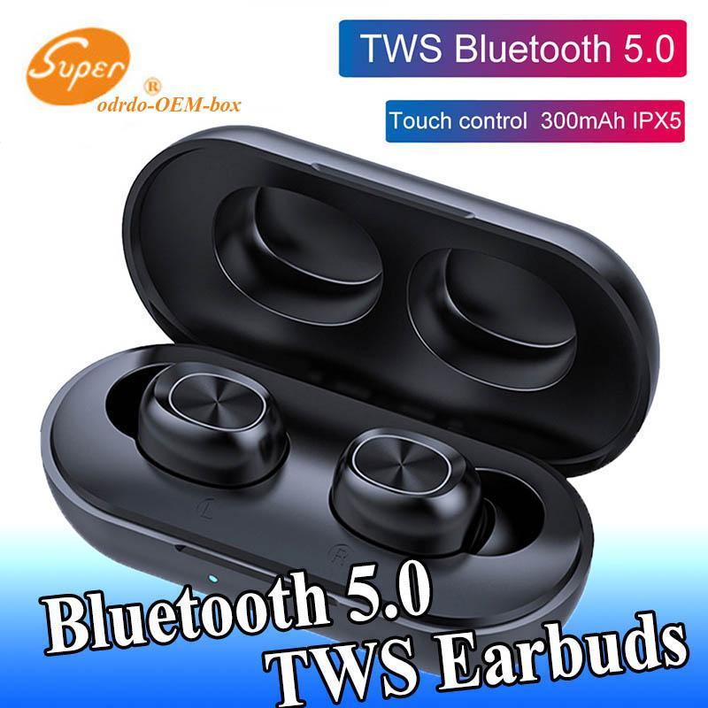 1 PCS sans fil Bluetooth écouteurs 5.0 Touch Control TWS Bluetooth stéréo écouteurs musique étanche casque pour Home Sports 300mAh