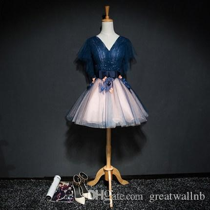 Luxusstickereiblumen kurzes lolita Kleid-Schmetterlingshülse, die / Karikatur / Karneval Cosplay bördelt