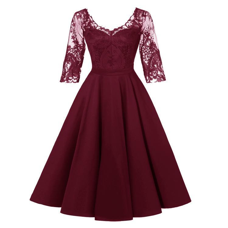 dentelle sexy robe col en V 2019 nouvelle exclusive hiver.