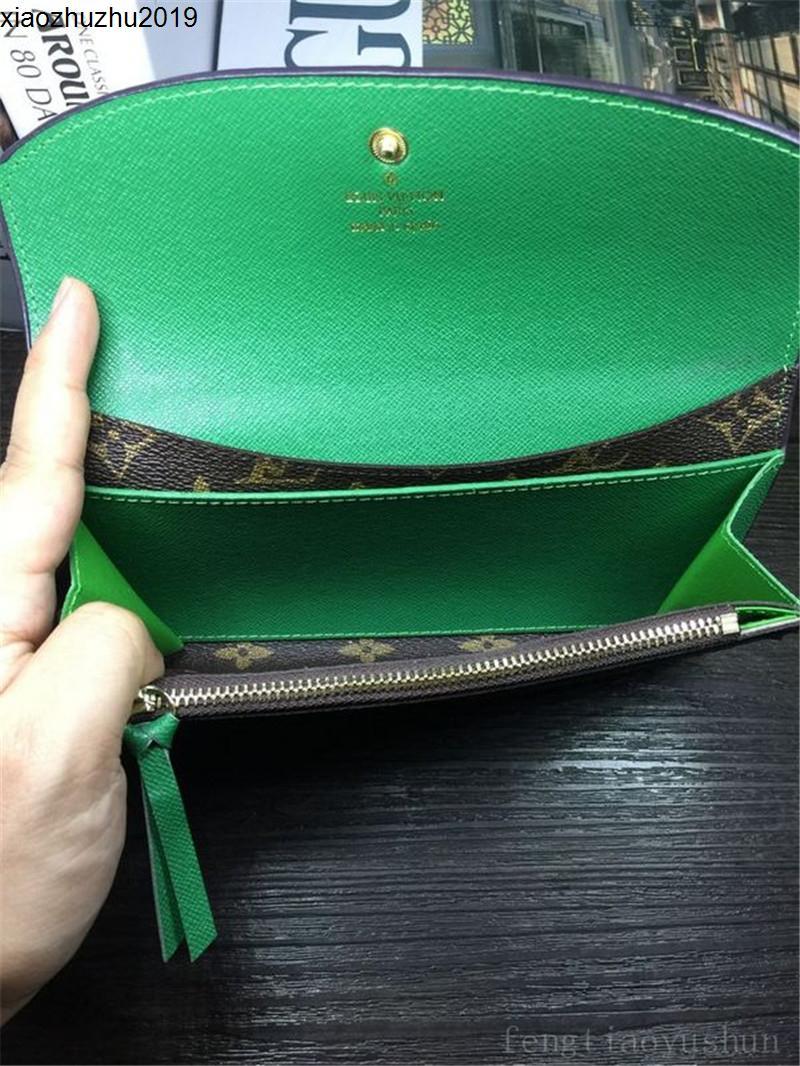 URH9 Toptan moda tek fermuar pocke tasarımcı erkekler kadınlar deri cüzdan bayan bayanlar uzun çanta 60136 019