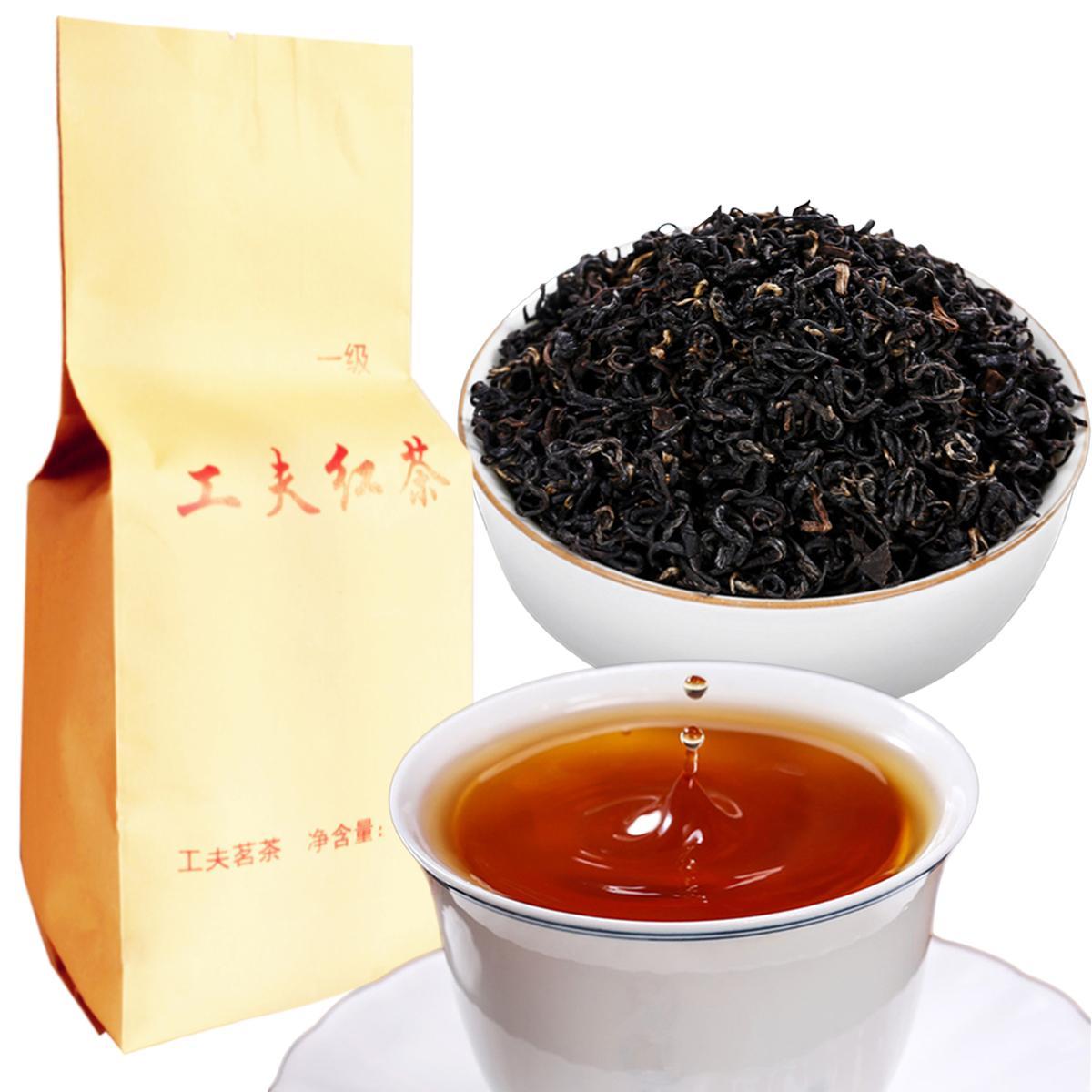 250g Çin Organik Siyah Çay Yunnan Üst dereceli Kongfu Dianhong Kırmızı Çay Sağlık Yeni Çay Yeşil Gıda Kraft Tercih Edilen ambalaj Pişmiş