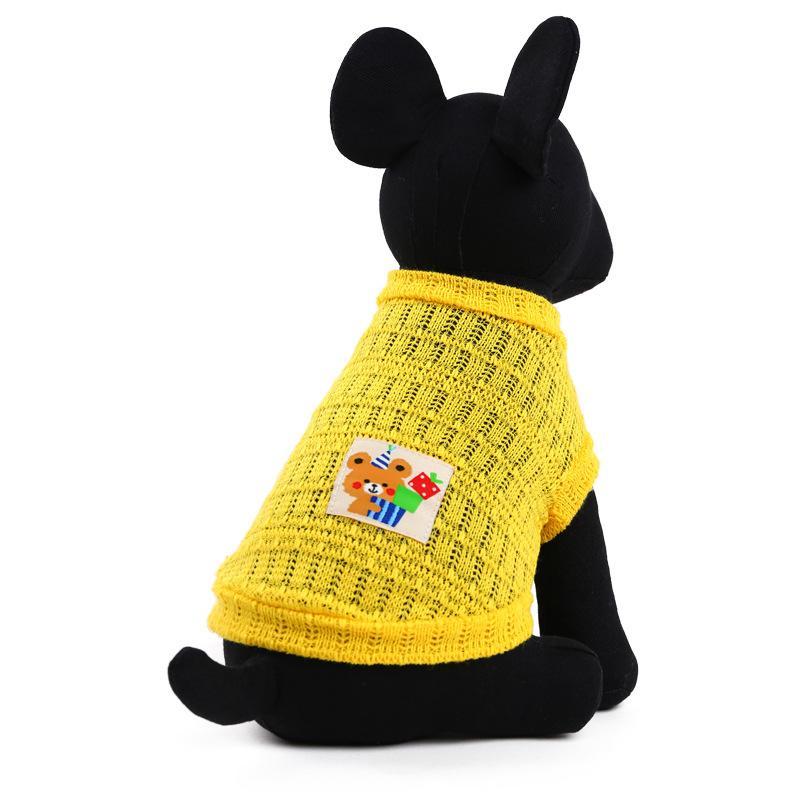 2018 Nouveau Style Les vêtements pour chiens printemps et les vêtements d'été-Chat Vêtements Vêtements Biscuit Ours wang yan shan printemps et en été chien en tissu