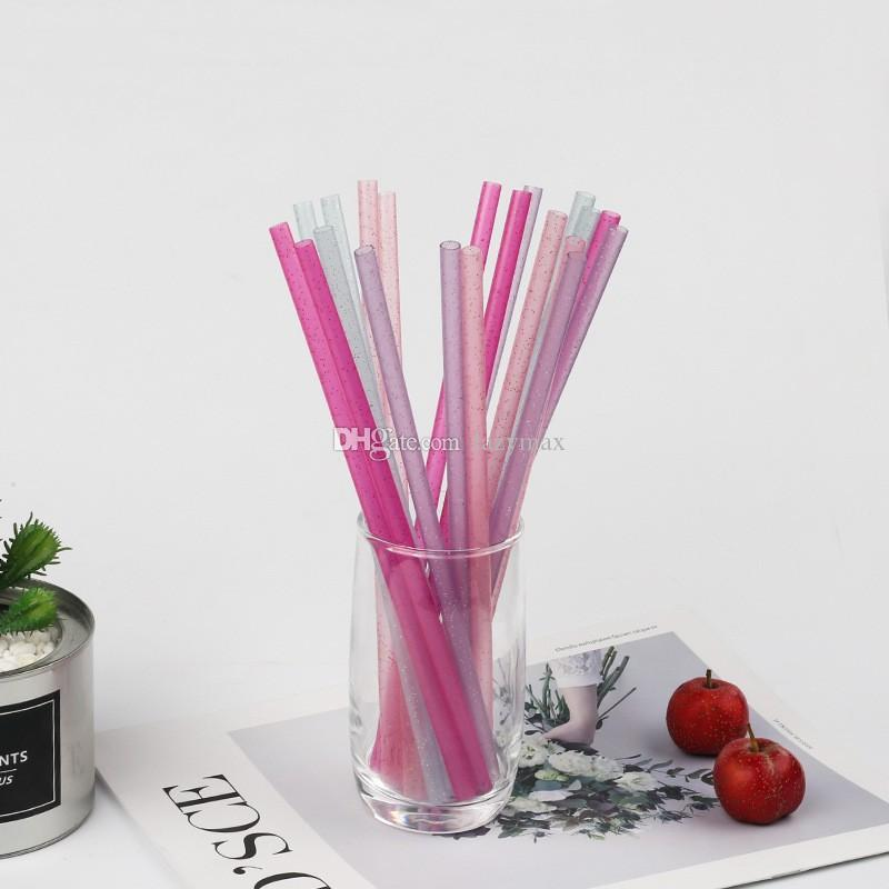 Colored Drinking Straws For Bar Coffee Shop Disposable Plastic Straws Bar Drinking Tools Birthday Wedding Party Decoration 50 Pieces ePacket