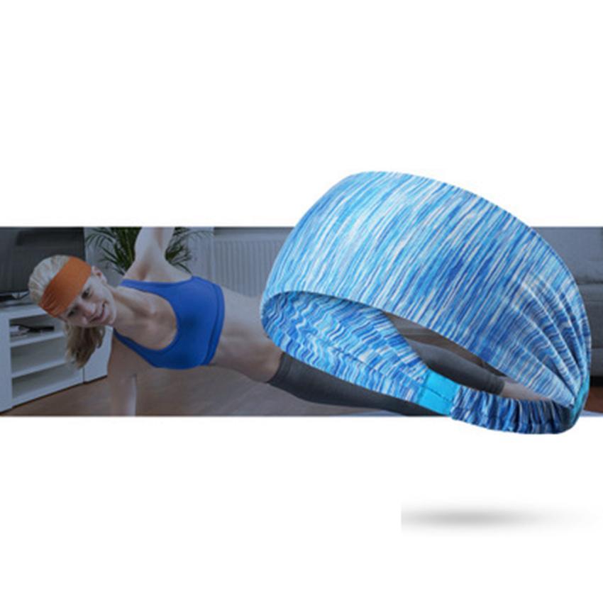 Fashion sports headband Fitness running cycling hair band Yoga Elastic hairband Hair Accessories fitness basketball sweatband ZZA662