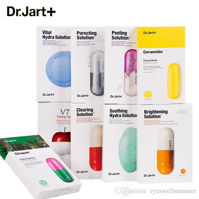 Dr.Jart + Masque pour le visage Dermask Jet d'eau apaisante Hydra Solution Masque pour le visage coréen Masque pour le visage Bubble Black Mask
