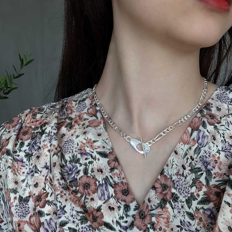 925 catene d'argento Sterling Collana Personalizzato Collana Girocollo Accessori Mujer Bijoux Femme Collares de Moda 2020