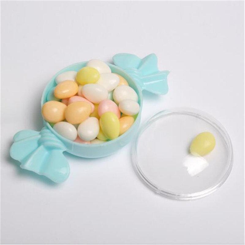 Creative Transparent bonbons BoxesFood année douce en plastique en forme de cas Conteneur Party coloré de mariage d'alimentation Bonbonnière