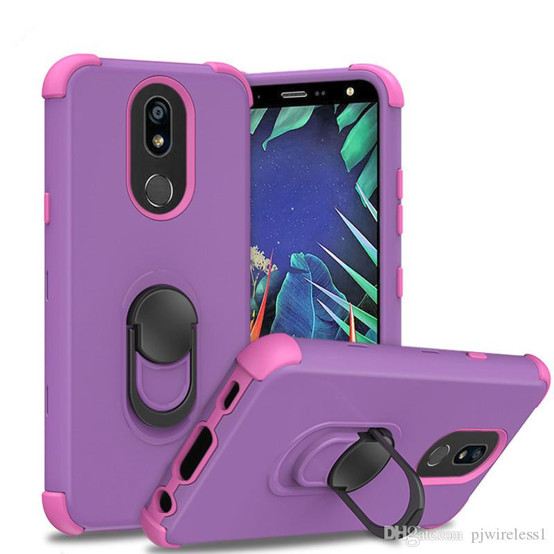For Motorola Moto G7 Power G7 Supra Cricket case stand mobile phone Triple combo case Full-body Rugged Case B