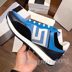 Diseñador 2020New para hombre famoso medusa zapatos ocasionales del cuero genuino marca de moda de los planos de los zapatos Tamaño 38-46 100210