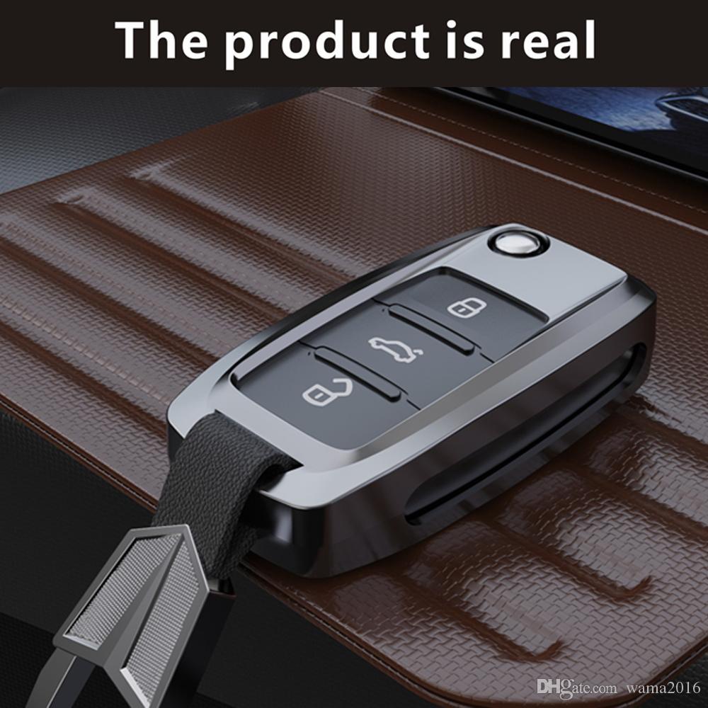 High Quality car key shell case Set keyfob For Volkswagen VW Passat Golf 6 Jetta Bora Polo Sagitar Tiguan Lavida Santana C-TREK