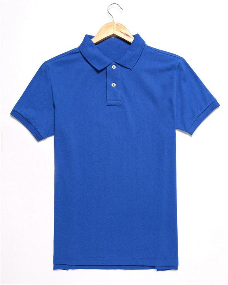 Polos de diseñador para hombre de verano Camisas de manga corta de marca Camisa de polo de Nueva York de Londres Camisa de polo para hombre Logotipo de bordado Tops sólidos