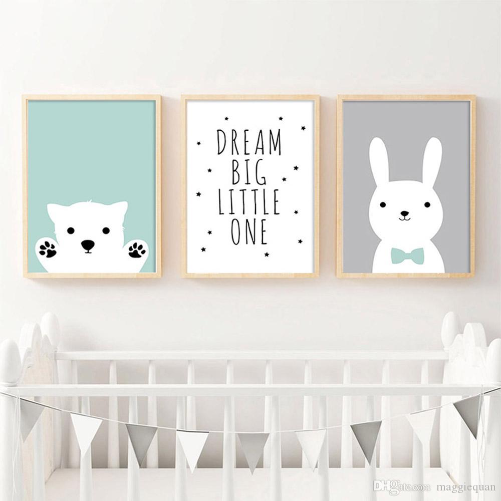 Unframed Dream big little one Moon Print Childrens quote Monochrome decor