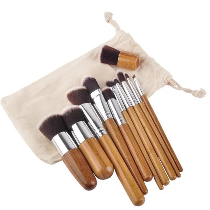 11pcs Foundation Makeup Brushes Set Cosmetics Make Up Brush OPP Bag Packing DHL Free Shipping