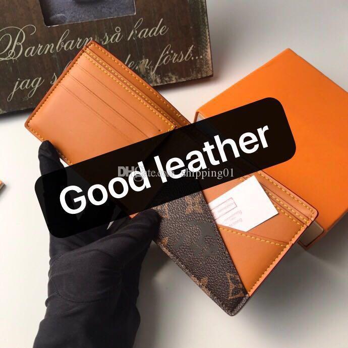 고품질 디자이너 여성 지갑 여성 비즈니스 가죽 브랜드 여성 지갑 노란색 짧은 카드 소지자는 무료 배송 박스