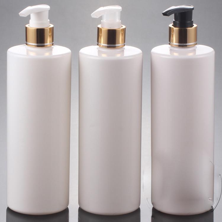 20pcs / lot, 500ML PET Losyonu Pompa Şişe, beyaz Plastik Kozmetik Konteyner, Boş Şampuan Alt şişeleme, Esansiyel Yağ Şişesi