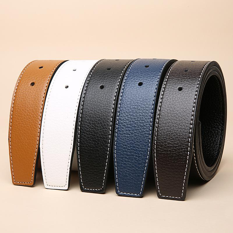Luxury Women/'s Leather Waistband Dress Casual Pant Waist Strap Men Jeans Belts