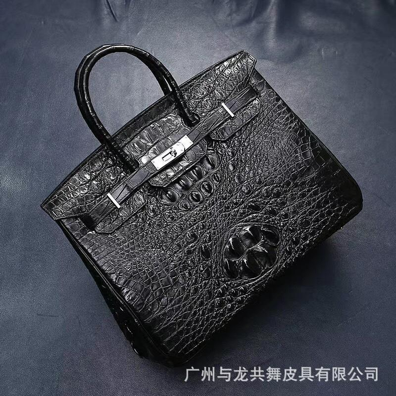 Elegant2019 Bone Crocodile Domestic Skin Women's Handbag Genuine Leather Woman Ma'am Hand Bag