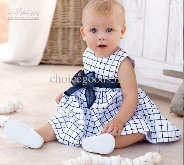 Atacado - 'vestido / roupas de bebê / roupa de escalada / chirdrens' Bebê vestido de manga curta