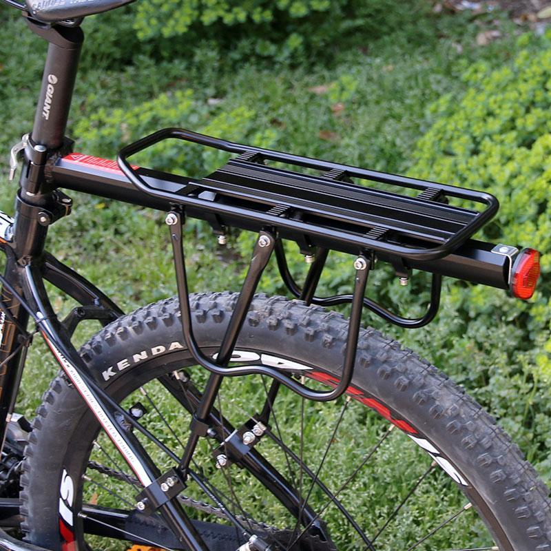 Deemount bicicleta bagagem transportadora de carga traseira Prateleira Prateleira Ciclismo Seatpost Bag Stand Holder para 20-29 bicicletas polegadas com Instalar ferramentas