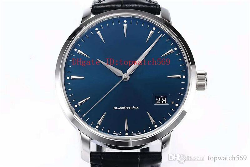 Strap Top SENADOR Assista Men Watch Relógio de pulso Cal.36-03 mecânico automático 28800 vph Big Data cristal de safira aço inoxidável 316L couro