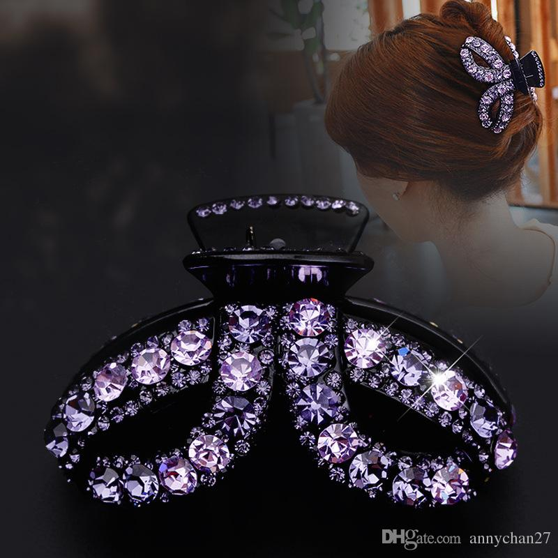 Hair Jewelry Large Clamps France Luxury Full Swarovski Crystal Rhinestone big Hair Claw Mother Day Gift free DHL