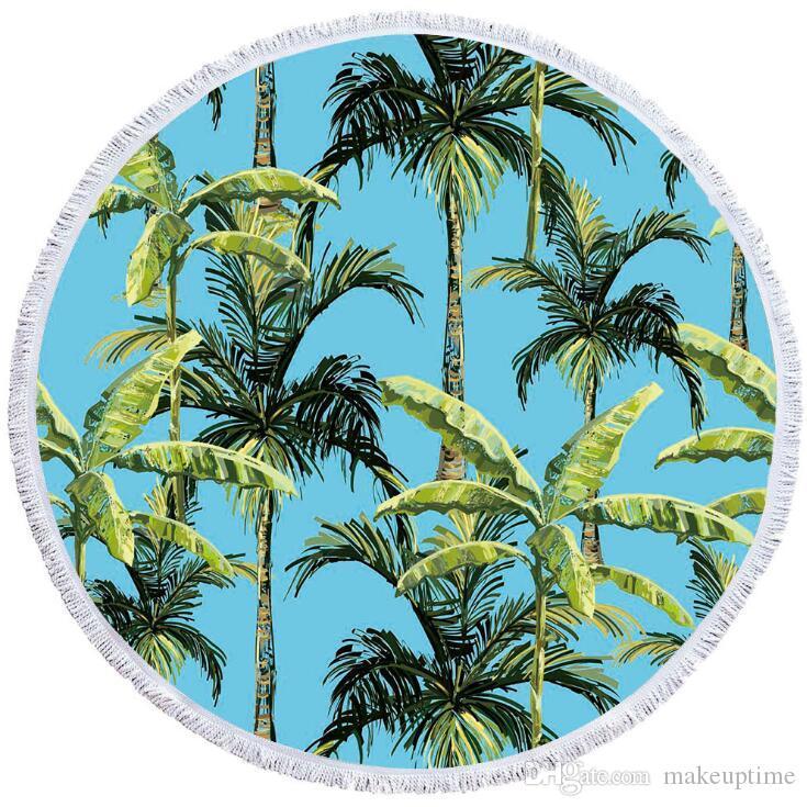 2019 Fashion Print Beach Scarf Yoga Towel Microfiber Round Beach Towel Digital Print Beach Accessories Towel