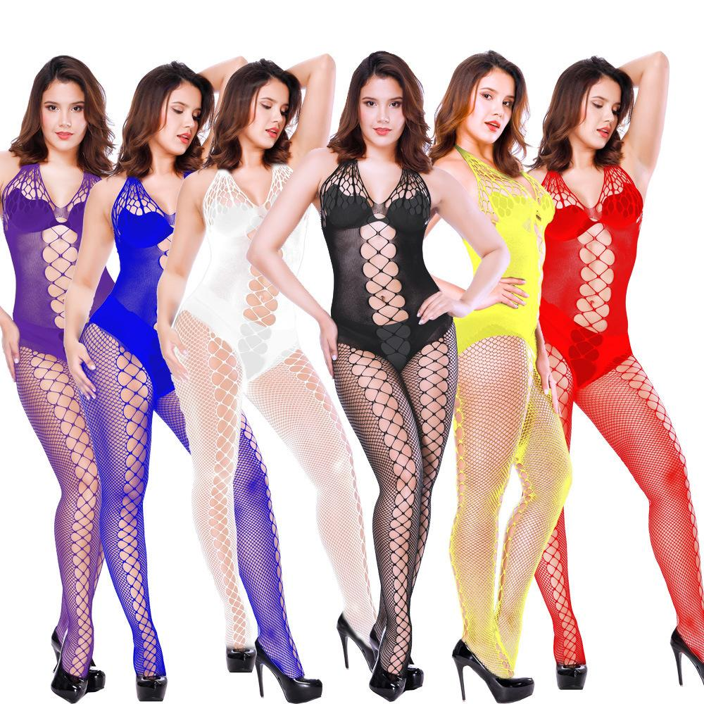 Sexy Wäsche-Frauen Erotische Dessous Hot Sex Produkte Sexy Kostüme Farbe Unterwäsche Slips Netzs Intimates Kleid Nachtwäsche Drop-Shipping