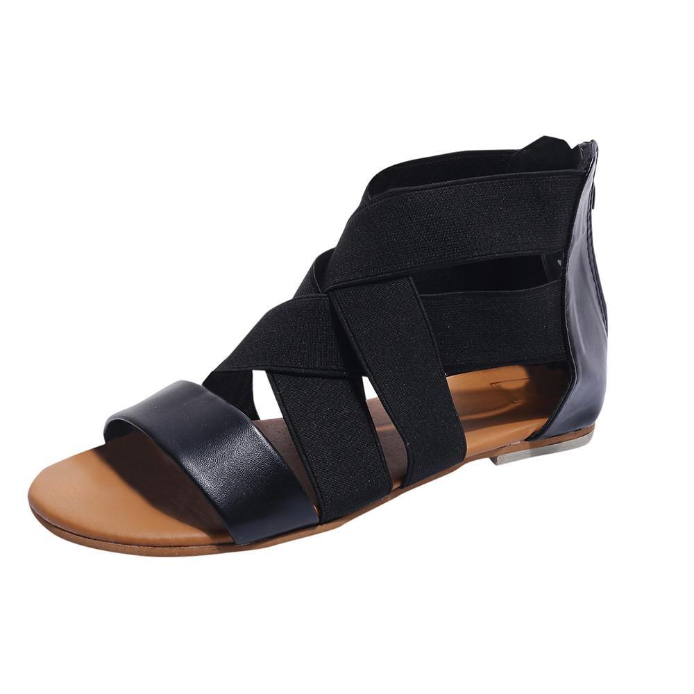 Sıcak Satış-MUQGEW Katı Siyah Moda Kadınlar Flop'lar Terlik Plaj Sandalet Ayakkabı Yeni Geliş # 1211