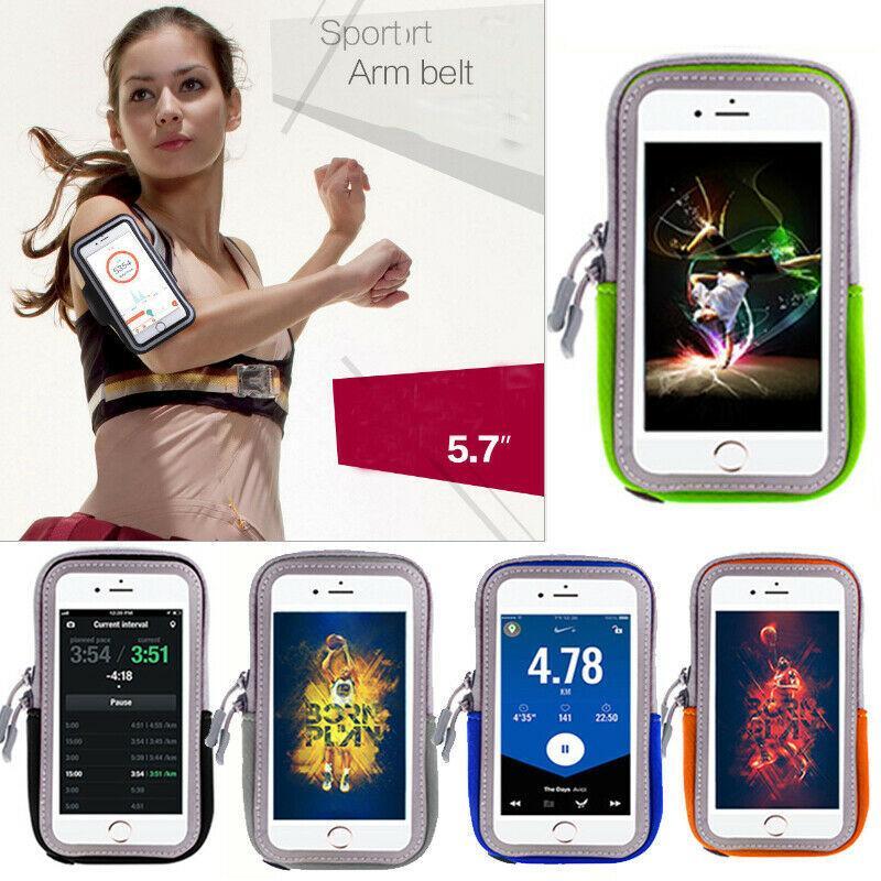 Sports Cycling Jogging Gym Armband Arm Phone Keys Holder Bag Exercise Fitness UK