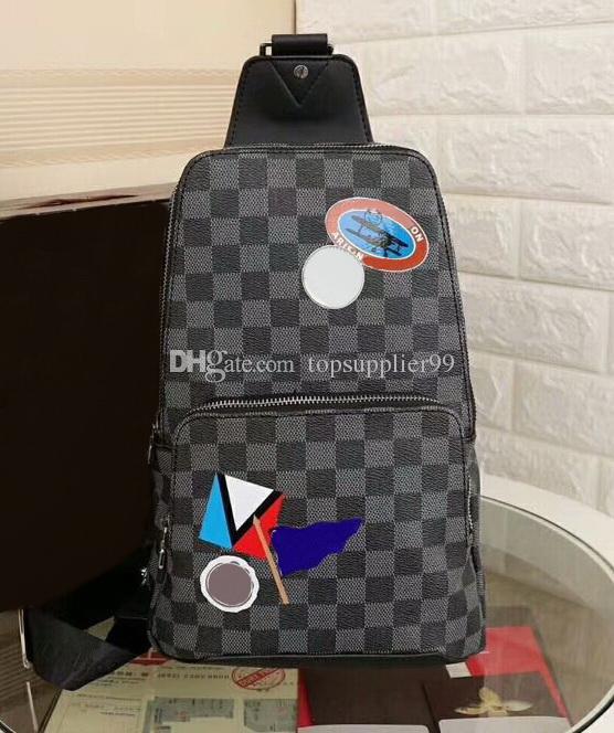 Moda de Nova Mulheres Homens de Couro Genuíno Bolsas de Grafite Famosa Marca messenger bags Avenue Totes Sacos Carteiras A333 Frete Grátis