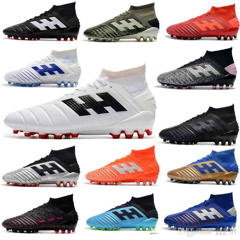 جديد 2020 أحذية رجالية المفترس 19.1 AG كرة القدم أحذية كرة القدم أحذية كرة القدم للرجال لكرة القدم المرابط AG مصمم أحذية رياضية أحذية Fooball دا كالتشيو