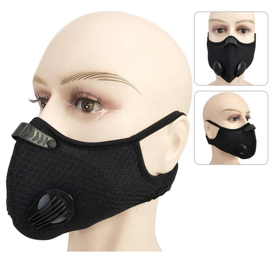 Велоспорт маска 5 цветов РМ2,5 фильтр пыле-маска Активированный уголь с фильтром против загрязнения велосипедов Face Mask OOA7790