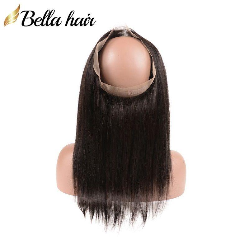 """100٪ البرازيلي الانسان الشعر العذراء 360 الرباط الرباط أمامية 22x4x2 """"مستقيم اللون الطبيعي للشعر إمتداد بني متوسط الرباط بيلا الشعر"""