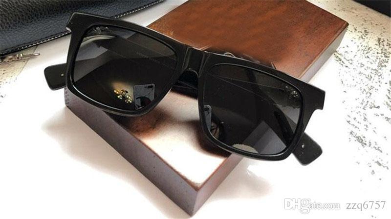 Novas retro homens populares óculos de sol design de estilo do punk retro moldura quadrada com caixa de couro revestimento reflexivo anti-UV de alta qualidade da lente